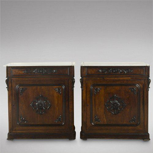 Pair of Spanish Rosewood Pier Cabinets (1 of 4)