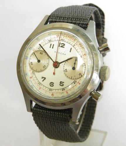 Gents 1940s Bancor Chronograph Wrist Watch (1 of 6)