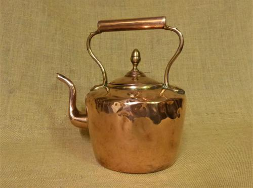 Traditional 5 Pint Antique Copper Kettle (1 of 5)