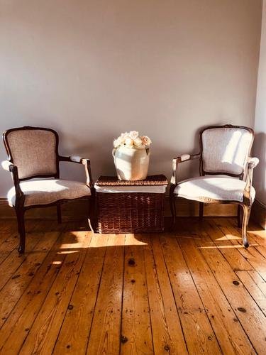 French Antique Chairs / French Salon Armchairs / Pair of Louis XV Chairs / Fauteuils (1 of 10)