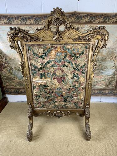 Early 19th Century Giltwood & Silk Screen (1 of 10)