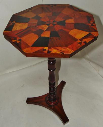 Regency Table with Inlaid Specimen Wood Top (1 of 7)