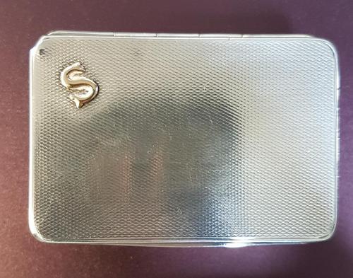 Sampson & Morden Silver Engine Turned Vesta Box (1 of 4)