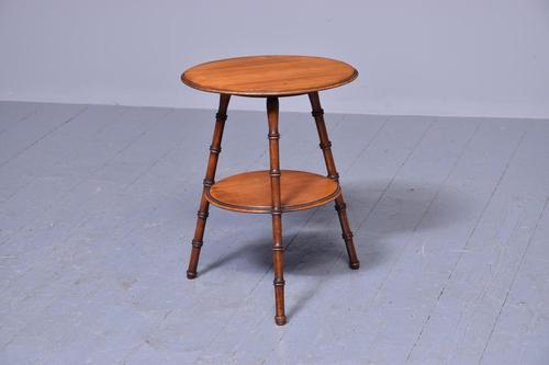 Victorian Two-tier Walnut Gypsy Table (1 of 5)