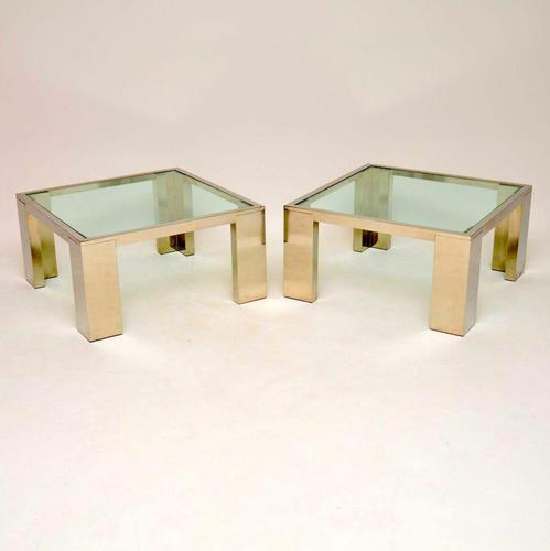 1970's Pair of Chrome & Glass Side / Coffee Tables (1 of 10)