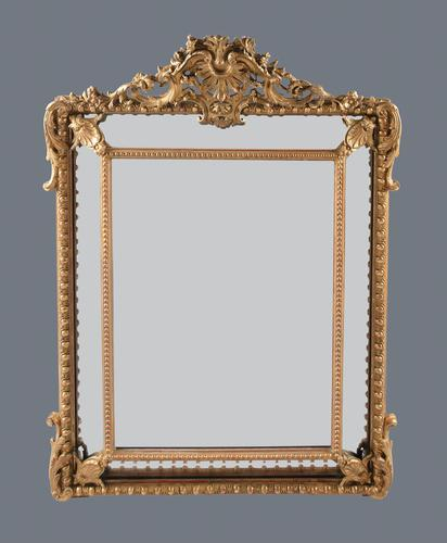 Large  French Gilt Overmantle Mirror (1 of 11)
