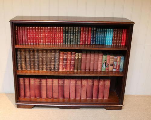 Large Oak Open Bookcase (1 of 9)