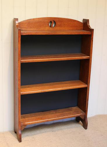 Solid Oak Open Bookcase c.1910 (1 of 5)
