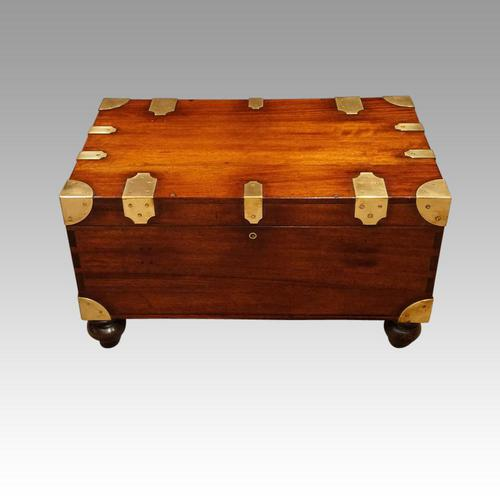 Victorian Mahogany Military Chest (1 of 14)