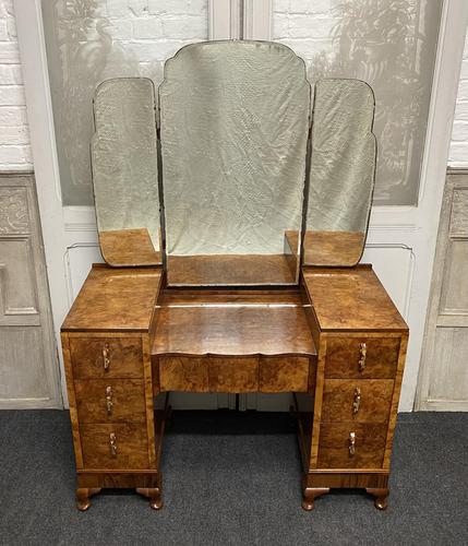 Stylish Art Deco Burr Walnut Dressing Table (1 of 20)