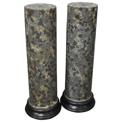 Pair of Italian Scagiola Pedestals / Columns (1 of 8)