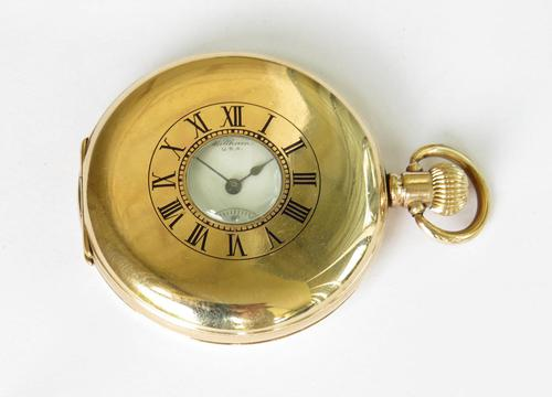 Antique Waltham Half Hunter Pocket Watch, 1913 (1 of 5)