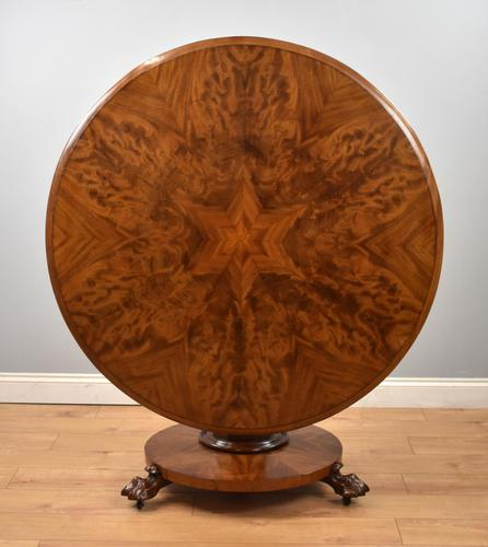 Victorian Mahogany Round Tilt Top Dining / Breakfast Table (1 of 7)