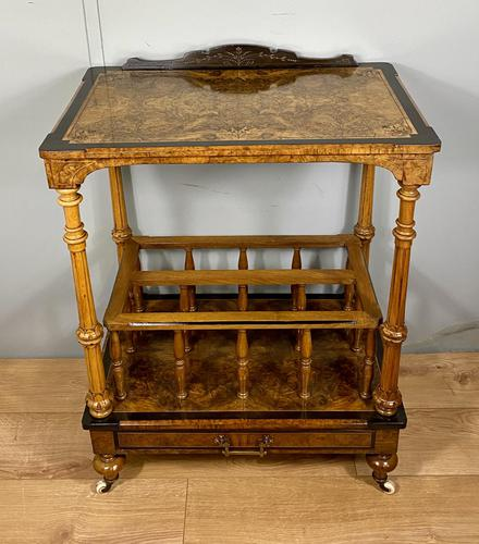Victorian Inlaid Walnut Canterbury What Not (1 of 11)