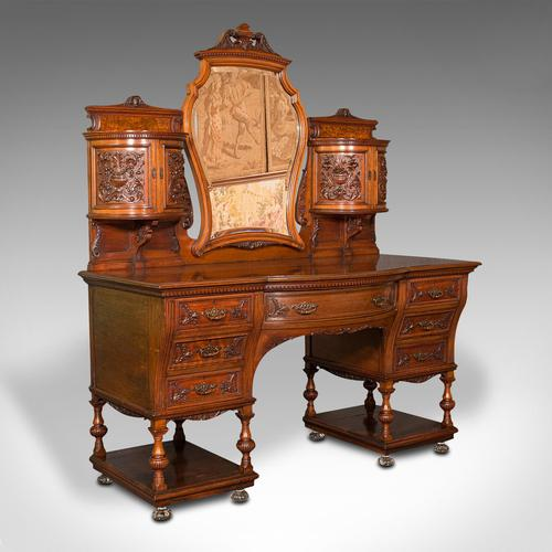 Fine Antique Dressing Table, English, Walnut - Gillow & Co, Victorian (1 of 12)