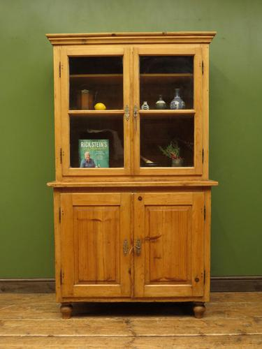 Antique Pine Kitchen Dressser with Glazed Top, Country Dresse. modestly sized (1 of 19)