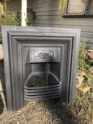 Antique Cast Iron Fireplace Insert (1 of 5)