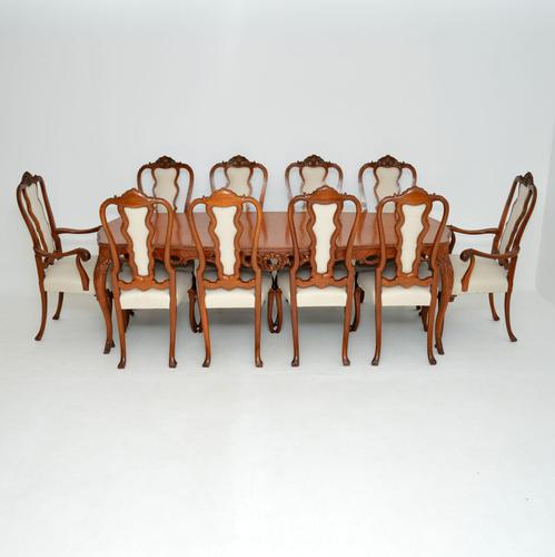 Antique French Kingwood Dining Table & Ten Chairs (1 of 23)