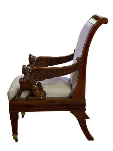 Pair of Library Chairs 19th Century (1 of 5)
