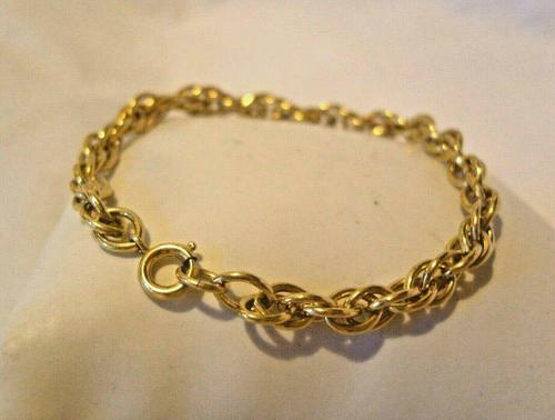 Vintage Bracelet 1970s 12ct Gold Filled Fancy Link with Stamped Bolt Ring (1 of 10)