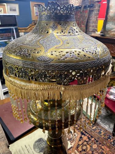 19th Century Islamic Brass Lamp (1 of 7)