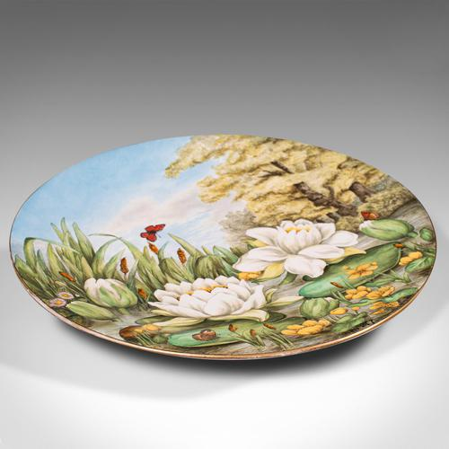 Antique Decorative Charger Plate, English, Ceramic, Dish, Art Nouveau, Victorian (1 of 12)