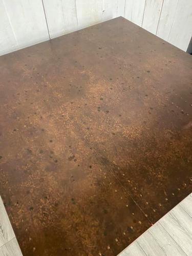 Arts and Crafts Copper Top Dining Table (1 of 4)