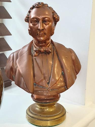 Superb Rare Large 19th Century Photo Sculpture Copper Bust by Willeme (1 of 11)
