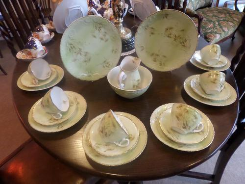 Very Lovely Green Tea Set for 6 People (1 of 4)