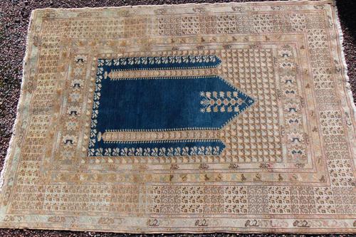 Antique turkish panderma prayer rug (1 of 6)