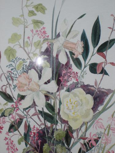 Watercolour of mixed Spring Flowers: Diana Snagge (1 of 2)