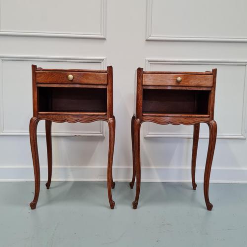 French Oak Bedside Tables c.1930 (1 of 5)