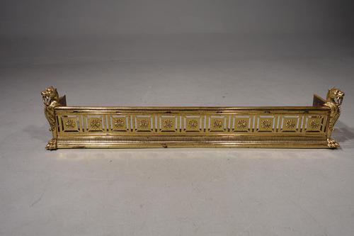 An Exceptionally Fine Late 19th Century Pierced Brass Fender (1 of 7)