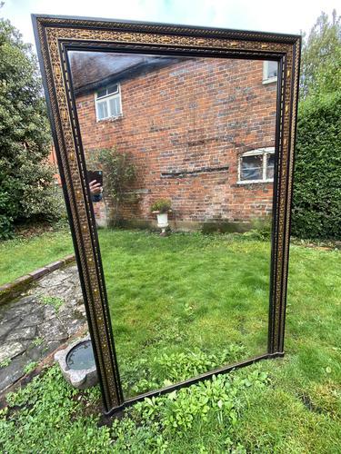 Very Large Ebonised & Gilt Mirror (1 of 7)