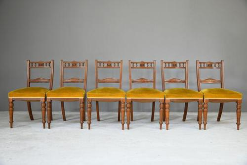 6 Victorian Walnut Dining Chairs (1 of 10)
