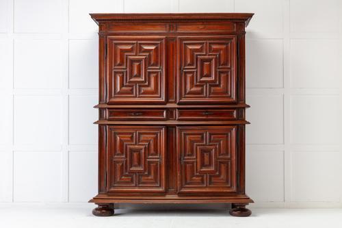 18th Century Dutch Walnut Cabinet (1 of 8)