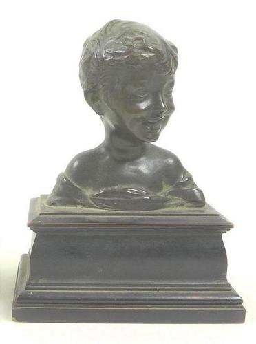 Bronze Sculpture of Laughing Boy (1 of 5)
