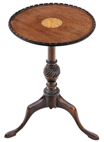 Georgian Revival Inlaid Mahogany Wine Table c.1910 (1 of 5)