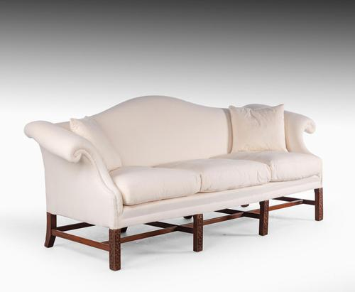 Well Shaped Early 20th Century Hepplewhite Style Camelback Sofa (1 of 5)