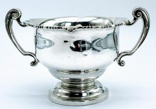 Antique West & Sons Irish Dublin Solid Silver Sugar Bowl c.1886 (1 of 6)