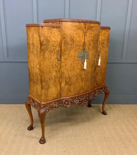 Large Burr Walnut Cocktail Cabinet (1 of 17)