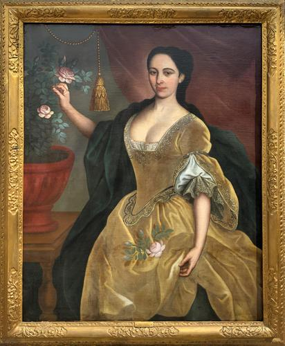 Huge Early 18th Century French Oil Portrait Painting of 'Lucy Webb, Heiress of Ashwick' (1 of 17)