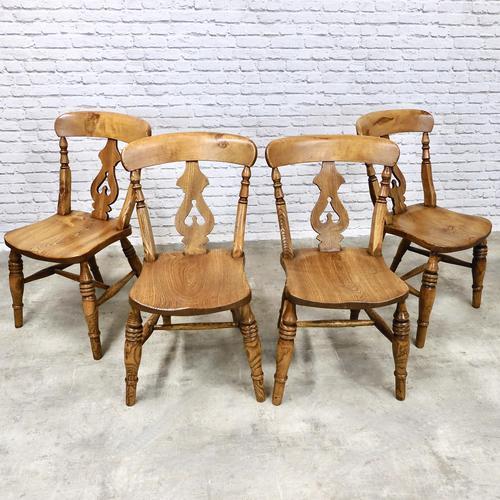 Set of 4  Lyreback Windsor Chairs (1 of 6)