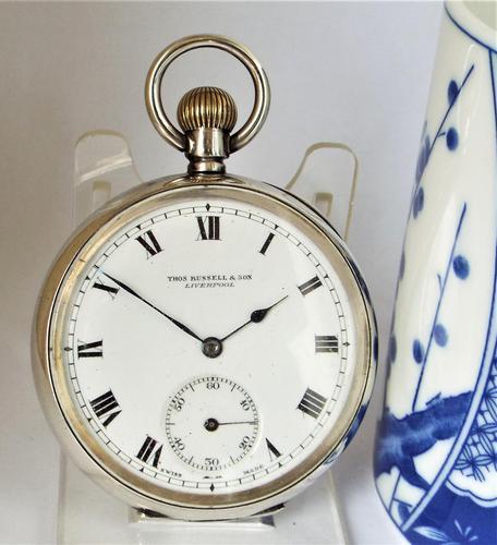 1919 Silver Cyma Pocket Watch (1 of 5)