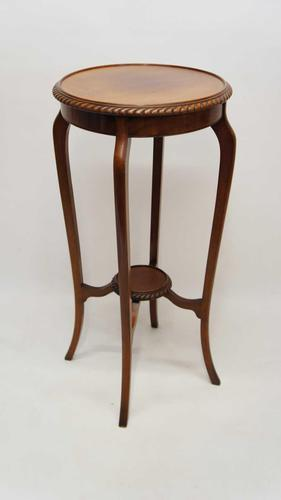 Early 20th Century 2 Tier Mahogany Torchiere, Plant Stand (1 of 11)