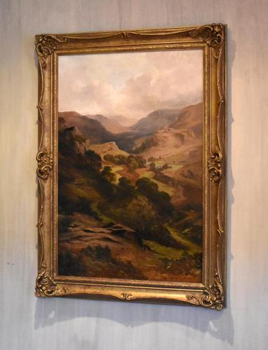 Oil Painting 'The Lledr Valley' by Frank T. Carter (1 of 9)