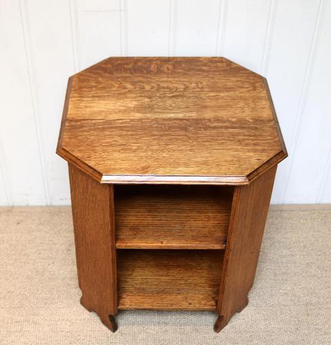 Low Oak Octagonal Table (1 of 7)