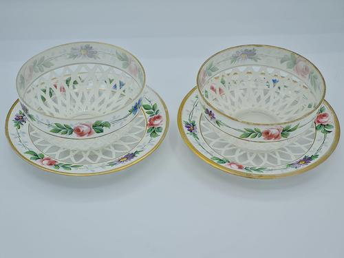 Pair of Bohemian Overlay Glass Bowls (1 of 11)