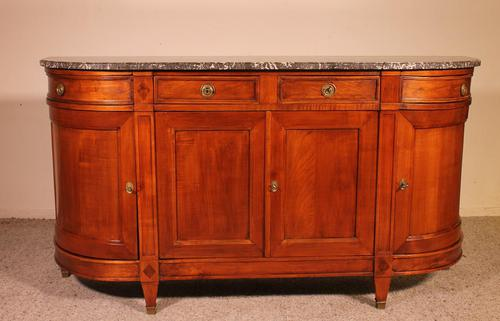 Louis XVI Buffet In Cherry Wood With Marble Top (1 of 9)