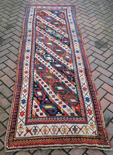 Antique Caucasian Genge Long Rug  279x89cm (1 of 6)